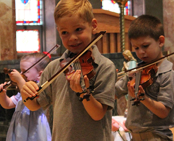 Villa Duchesne and Oak Hill School violinists